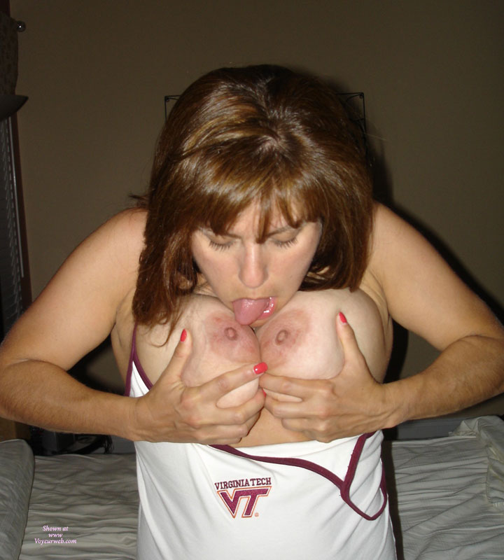 Sucking My Own Breasts photo 1