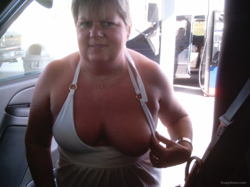 Showing My Tits In Public photo 8