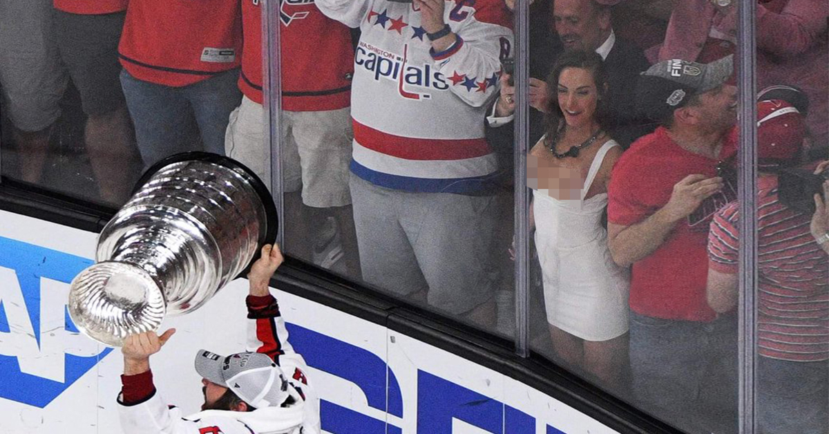 Woman Flashes Stanley Cup photo 5
