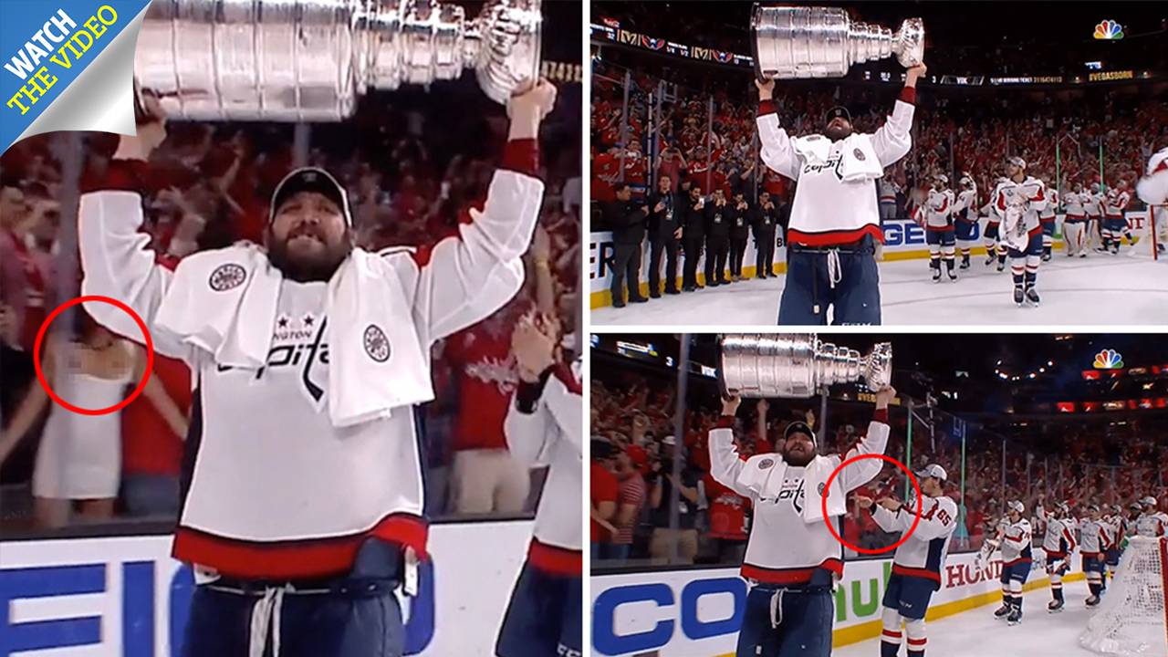 Woman Flashes Stanley Cup photo 30